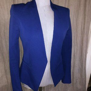theory Lanai Electric Blue open jacket blazer 4